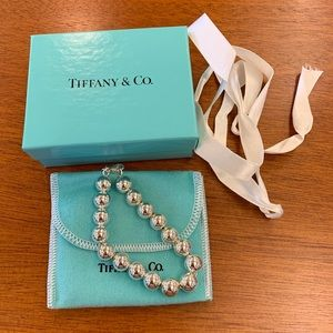NEW Tiffany & Co. 10 mm beaded bracelet ss